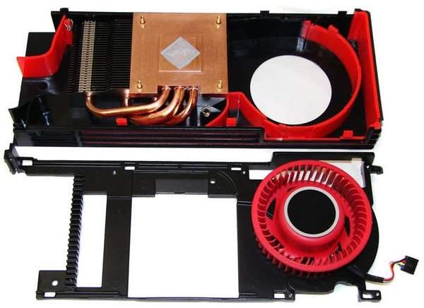 Кулер Sapphire HD 6870 состоит из трех частей