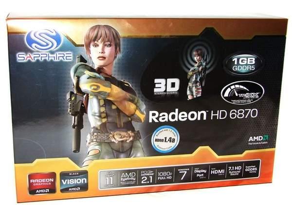 Упаковка видеокарты Sapphire HD 6870