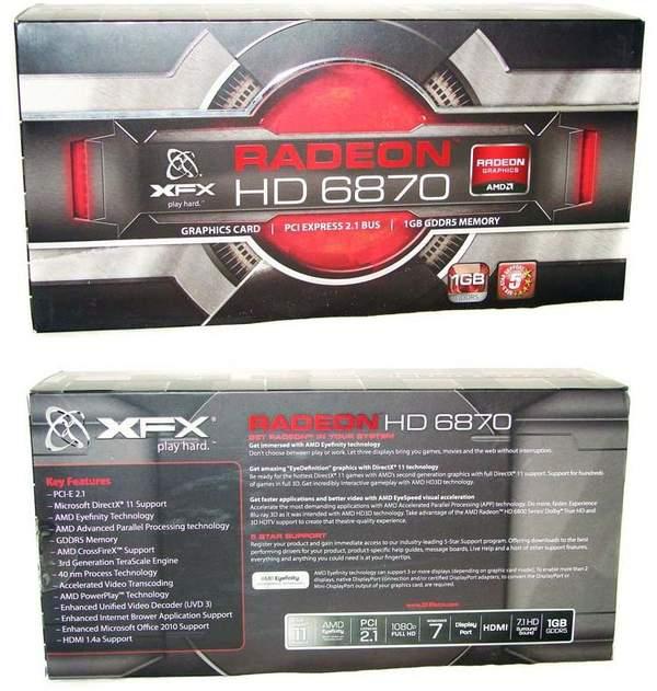 Упаковка XFX HD 6870