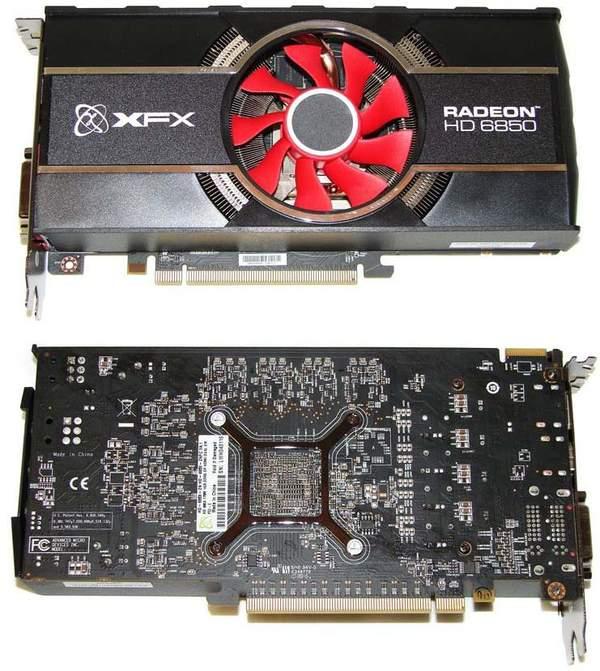 Видеокарта XFX HD 6850