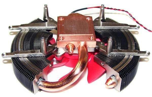 Конструкция кулера XFX HD 6850 основана на тепловых трубках