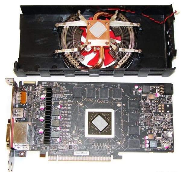 Кулер видеокарты XFX HD 6850
