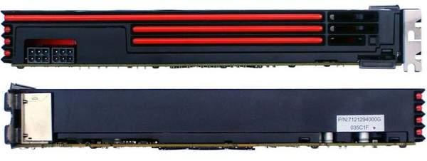 Видеокарта PowerColor HD 6870 - вид сверху и снизу