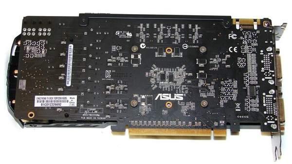 Видеокарта Asus GTX 560 Ti DirectCUII TOP - обратная сторона
