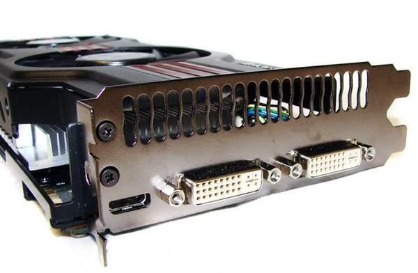 Порты видеокарты Asus GTX 560 Ti DirectCUII TOP