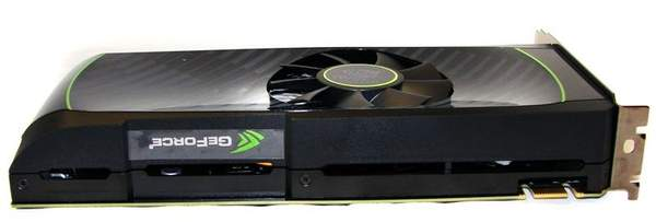 Видеокарта NVIDIA GTX 560 Ti - вид сверху
