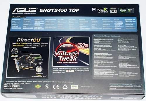 Упаковка Asus ENGTS450 TOP - обратная сторона