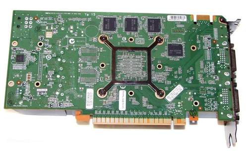 Видеокарта NVIDIA GTS 450 - обратная сторона