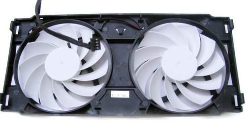 Каждый вентилятор Inno3D GTS 450 имеет по 11 лопастей белого цвета