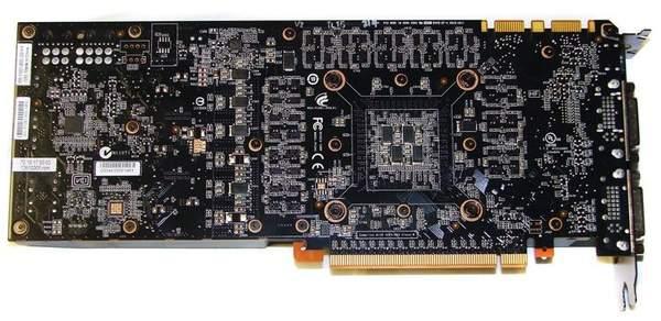 Видеокарта NVIDIA GeForce GTX 570 - обратная сторона