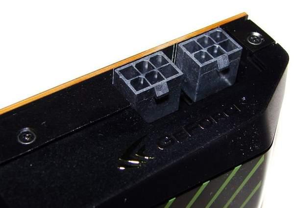 Для подвода дополнительного питания на GTX 570 есть два 6-pin разъема