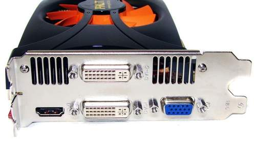 Порты видеокарты Palit GTX 460 1 Гб Sonic Platinum Edition