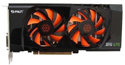 Охлаждение видеокарты Palit GeForce GTX 470
