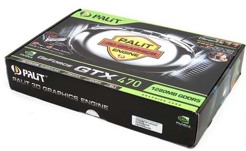 Упаковка Palit GeForce GTX 470
