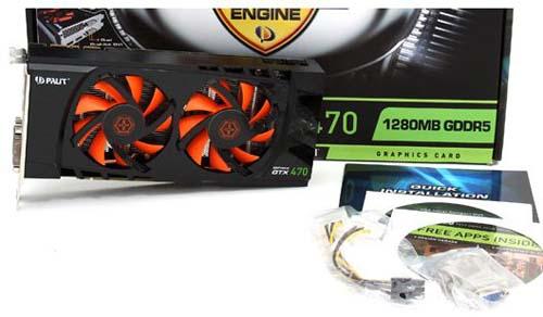 Комплектация Palit GeForce GTX 470