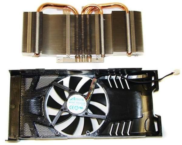 Радиатор и кожух кулера PowerColor HD 6870 PCS+