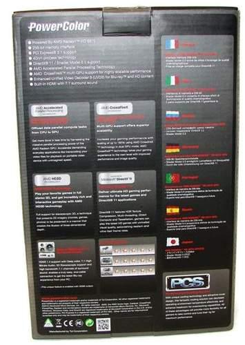 Упаковка видеокарты HD 6870 PCS+ - обратная сторона