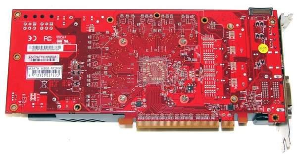 Видеокарта PowerColor HD 6870 PCS+ - обратная сторона