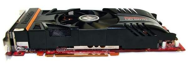 Видеокарта PowerColor HD 6870 PCS+ - вид снизу