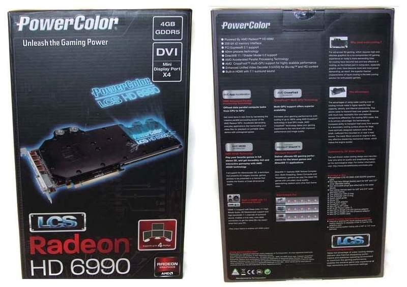 Упаковка видеокарты Powercolor LCS HD 6990