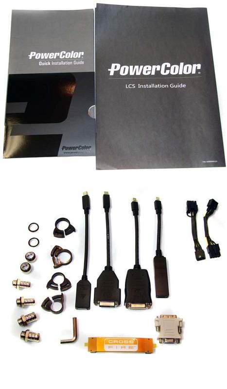 Комплектация видеокарты Powercolor LCS HD 6990
