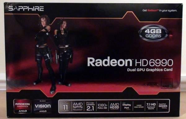 Коробка видеокарты Sapphire Radeon HD 6990