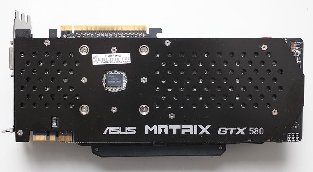 Asus GTX 580 Matrix Platinum - обратная сторона