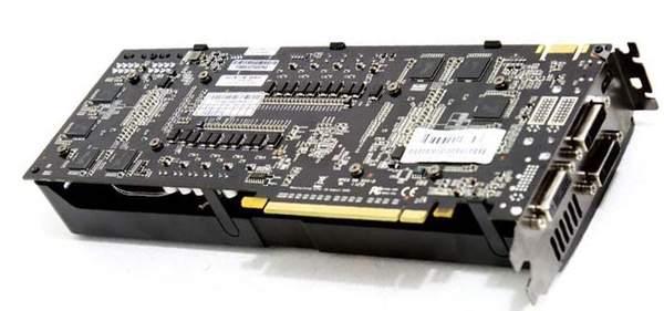 Обратная сторона EVGA GeForce GTX 560 Ti 2Win