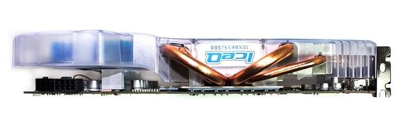 Система охлаждения видеокарты HIS HD 6970 IceQ Mix занимает два соседних слота