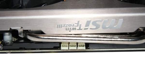 Порты для замера напряжений платы MSI GeForce GTX 580 Lightning