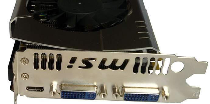 Порты видеокарты MSI N560GTX-448 Power Edition
