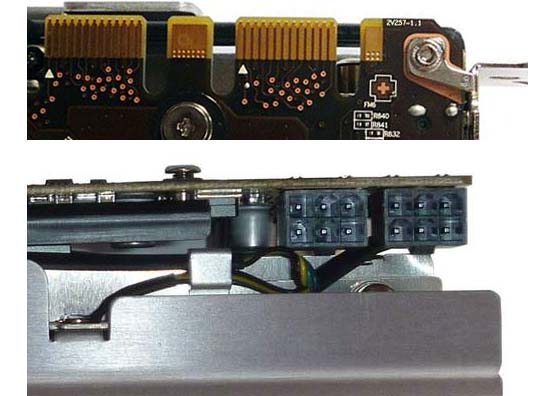 Интерфейс SLI и разъемы питания MSI GTX 560 TI 448