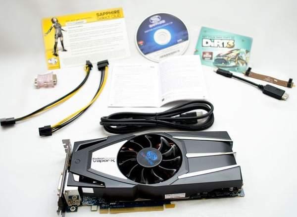 Комплектация видеокарты Sapphire HD 6850 Vapor-X Edition