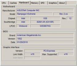 CPU-Z Core i7 980X Gulftown