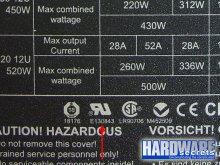 Определение производителя БП OCZ ModStream 520 W