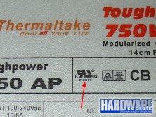 Определение производителя БП Thermaltake Toughpower 750 W