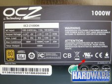 Число UL для OCZ Z Series 1000 W