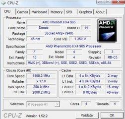 CPU-Z Phenom II X4 965BE