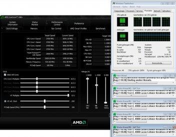 Разгон на ASUS M4A89GTD USB 3 при помощи AMD Overdrive