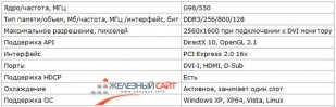 Характеристики Palit 9500GT
