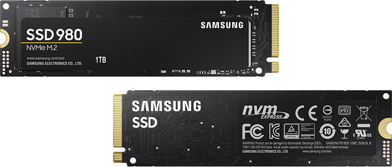 В европейских магазинах уже появляются SSD Samsung 980 PCIe 3.0 x4